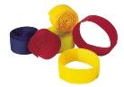 Lábjelölő tépőzáras sárga textil 5db/csomag