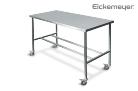 Vizsgálóasztal r.m. 130x60cm perem nélkül erősített mobil  Eickemeyer