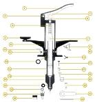 Automata tuberkulin fecskendő Mclintock  ujjtámaszhoz csavar (No.12)