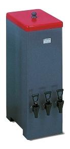 Előhívótank fűthető 3 részes 9-9 liter hívó/fixáló, 12 liter víz