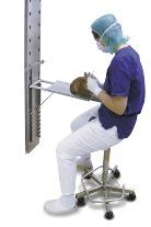 Műtőpad kisállatnak, falra szerelhető 50x20cm (állítható magasság és dőlésszög)