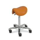 Orvosi szék Amazone nyereg alakú (szélesség:35cm) magasság:65-90cm narancs